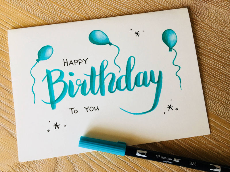 Handlettering - Happy Birthday to you